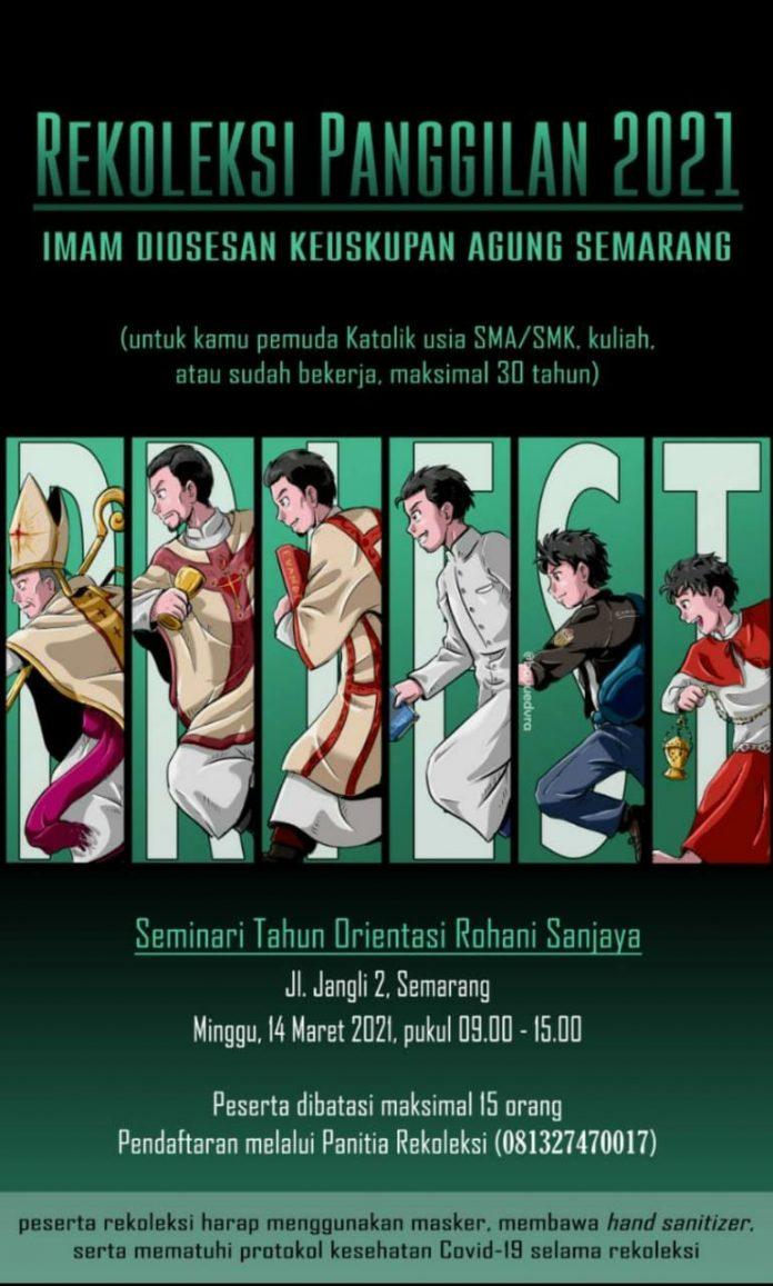 Poster Rekoleksi Panggilan 2021